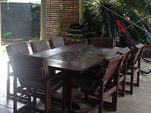 9 Piece Outdoor Table & Chairs Rapid Creek Darwin City Preview