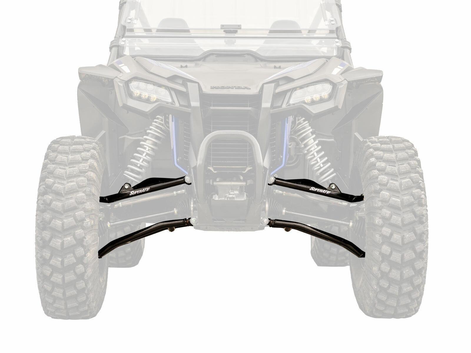 "SuperATV Honda Talon 1000X 1.5"" Forward Offset High Clearance A-Arms - Black"