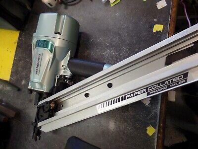 Hitachi Metabo Nr83aa5 Paper Collated 3-14 Framing Air Nailer