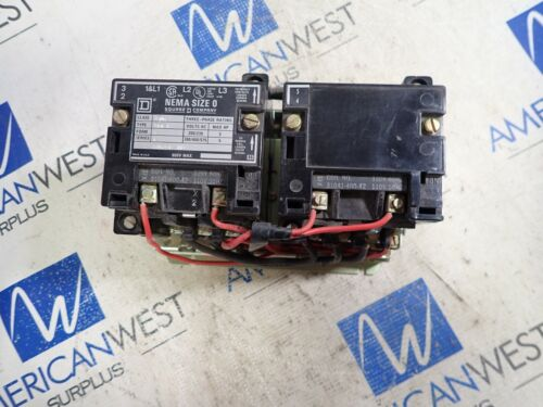 SQUARE D Size 0 Contactor 2 Speed  3702SB04  5HP   120V Coil 3702  SB04 form S