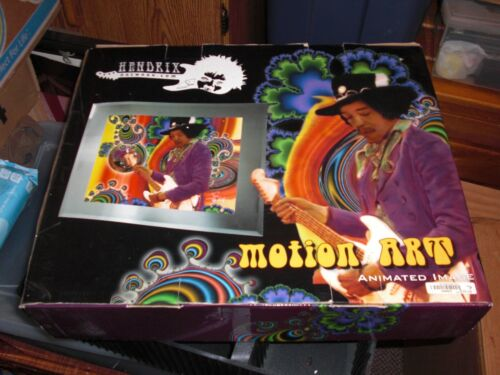 Jimi Hendrix Motion Art Animated Image Light Up Picture Great Condition Tested!