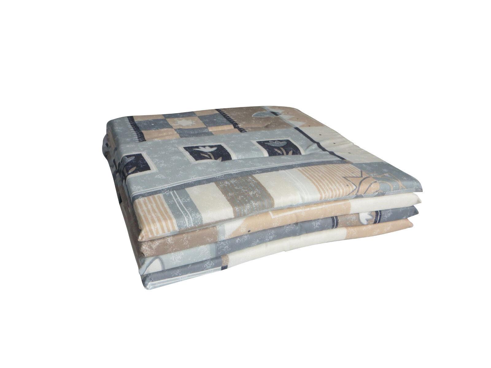 4er-Set Plattenkissen Softkissen Sitzkissen Stuhlkissen Kissen 38,5x38,5cm blau