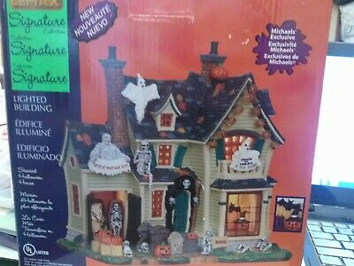 SCARIEST HALLOWEEN HOUSE MICHAELS SIGNATURE COLLECTION LEMAX SPOOKY TOWN - Michaels Halloween Village
