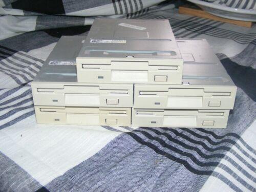 "LOT OF 5 TEAC FD-235HF 3.5"" 1.44MB Internal Floppy Drive Beige"
