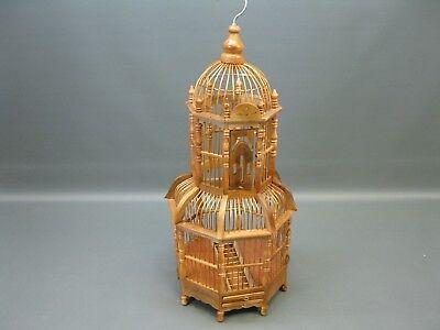 Madera de Bambú Asiático Jaula para Pájaros Aviario Artesanía Casita 60CM