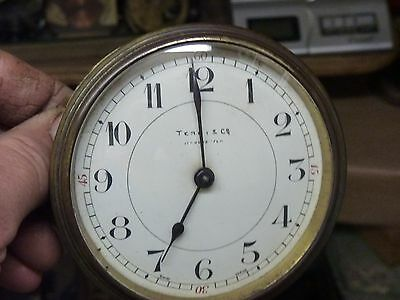 ANTIQUE ?  FRENCH DRUM CLOCK PLATFORM MOVEMENT & DIAL- SPARES OR REPAIR