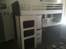 Loft bed with desk Seaford Rise Morphett Vale Area Preview