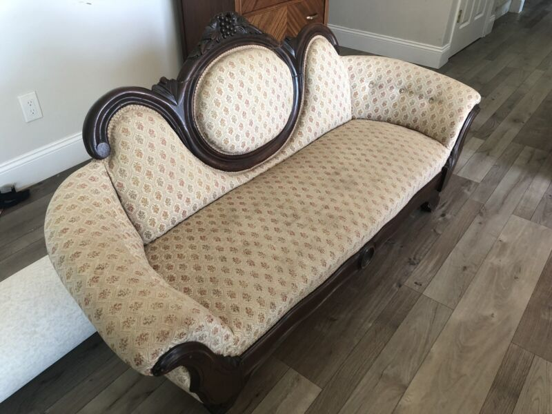 Antique Settee couch beautifully carved Loveseat