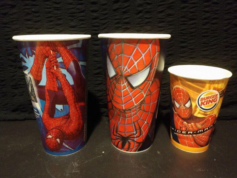 3 Vintage Burger King Spider-Man Paper/Wax Cups