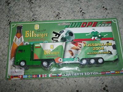 Brauerei Bitburger alkoholfrei MAN Bulgarien Truck Fußball EM 2004 1:87