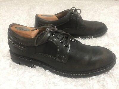 Clarks Black/Gray 16501 Classic Oxford Casual Dress Shoe - Men's Size 8.5 -