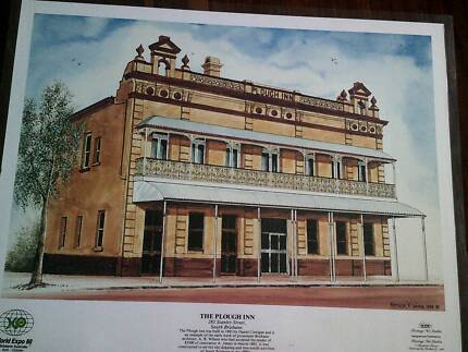 3 x Laminated Brisbane Heritage Buildings PRINTS set