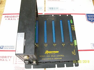 Robotron S-400 Power Supply 503-3-0324-12 Weld Control Backplane 419-0-0444-01