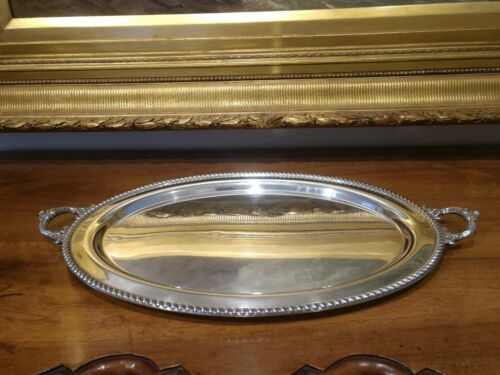 "Large 25""  Sterling Waiter Tray in the Georgian Pattern by Poole"