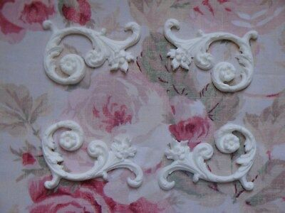 Acanthus Corner - New! Shabby & Chic Scroll Floral Acanthus Corners 4pc. Set Furniture Applique