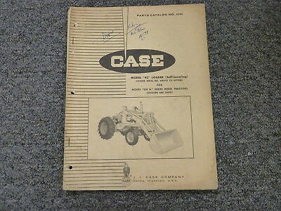 Case 42 Self Leveling Loader For 530 Sl Wheel Tractor Parts Catalog Manual A900