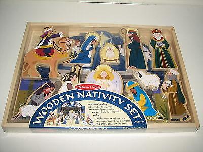 Melissa & Doug Wood Wooden Nativity Set Christmas First Noel Playset Sealed New