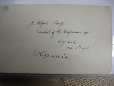 Alfred Sharp 1921 Signature - Bible