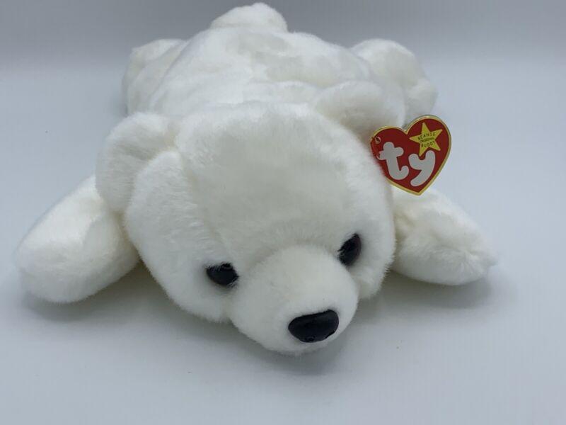 "13"" Ty Beanie Buddy Chilly the Polar Bear 1998 Plush Stuffed Animal White"