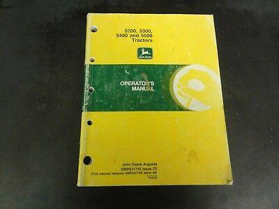 John Deere 5200 5300 5400 And 5500 Tractors Operators Manual Omre41745 C6