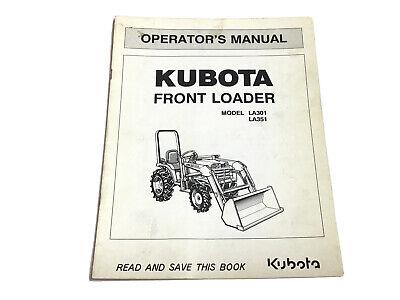Kubota La301 La351 Front Loader Operators Manual