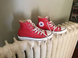CONVERSE All Star LEATHER (CUIRE) ROUGE running shoes