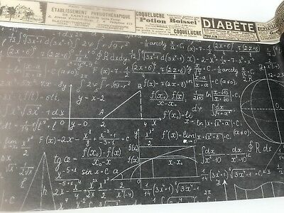 Super Wide Paper Washi tape Wallpaper Newspaper Maths Formula Function - Graph Math