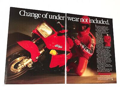 Kawasaki Ninja 1000R Original Vintage Print Ad ! 2 Pages (007)