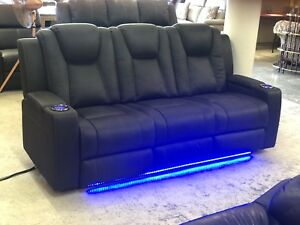 Electric Recliner Sofa with Power & USB Ports