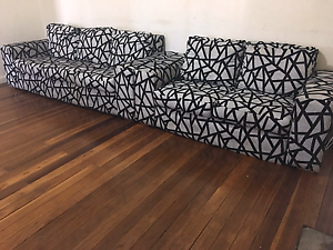 Black and white lounges set Chester Hill Bankstown Area Preview