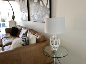 Brand New White Modern Lamp fr Homesense