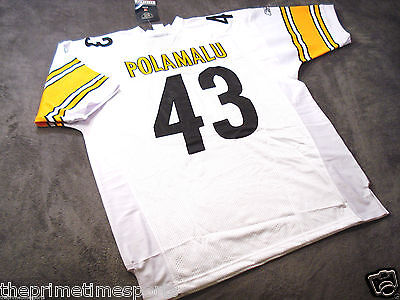TROY POLAMALU #43 - Pittsburgh Steelers White NFL Jersey -- ALL SIZES AVAILABLE ()
