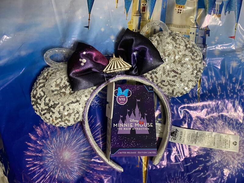 Disney Minnie Mouse Main Attraction January Space Mountain Ears Headband. NWT