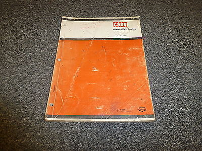 Case 530ck Construction King Wheel Tractor Parts Catalog Manual D910