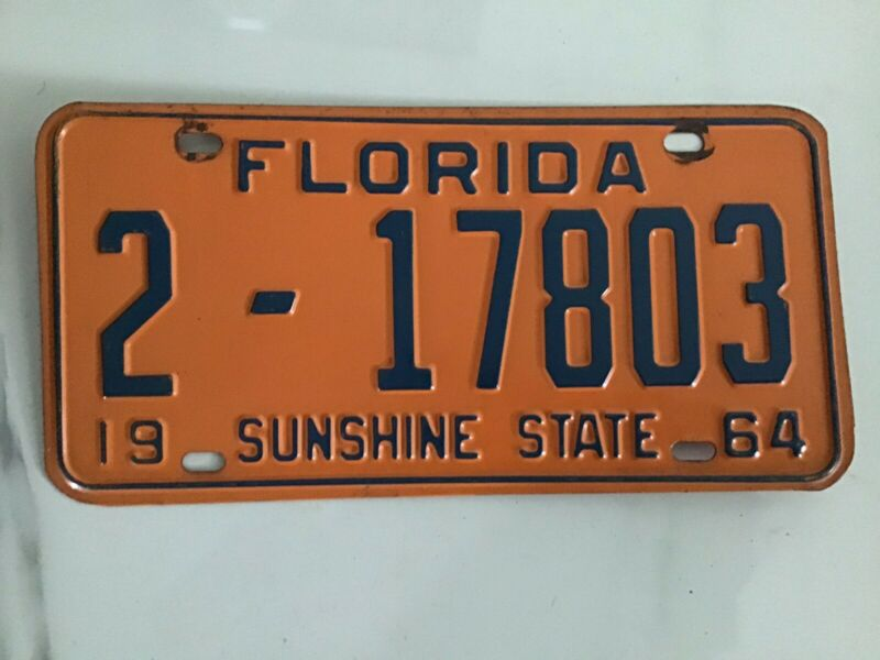 Florida License Plate 1964 Duval County 2-17803
