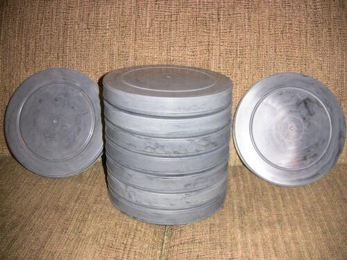 NINE- 400ft 16mm Plastic Film CANS - NEW