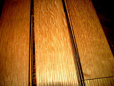 "16 PIECES THIN SANDED RIFT & QUARTERED WHITE OAK 12"" X 3"" X 1/4"" LUMBER WOOD, used for sale  Brazil"