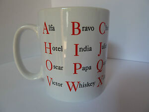 NATO Alphabet Mug Alfa Bravo Gift Present Tea Coffee Police Army Dad Sailor