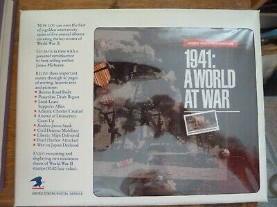 1941: A world At War - Book Including Mint Stamps ($5.80 Face Value)   Excellent