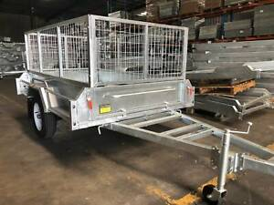 𝗦𝗔𝗟𝗘 | New Galvanised 6x4 Box Trailer For Sale with Cage Biggera Waters Gold Coast City Preview