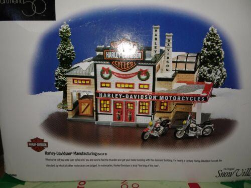 Dept 56 Original Snow Village Harley-Davidson Manufacturing 54948 Complete