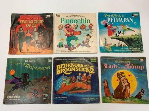 Set of 6 Disneyland LP Records + 2 Children