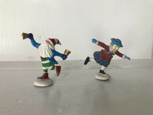 Dept 56 North Pole Series SKATERS LOT OF 2