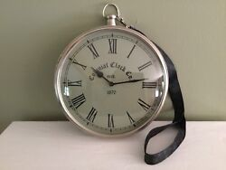 Colonial Clock Co. Large Stop Watch Or Pocket Watch Round Wall Clock 10""