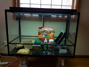 Reptile Tank & Accessories - Bargain Deal, Near New Condition Rouse Hill The Hills District Preview