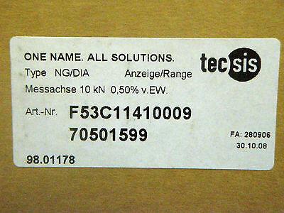 tecsis Messachse mit Dünnfilmsensensor NG/DIA 10kN 0,50% v.EW F53C11410009 NEU