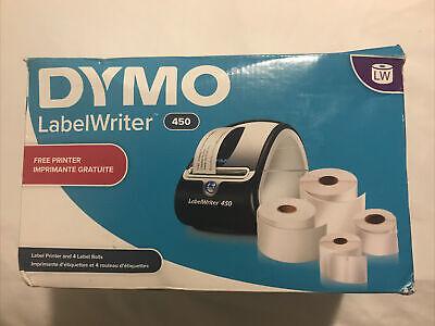Dymo Labelwriter 450 Label Printer Bonus Roll Bundle Barcode Shipping