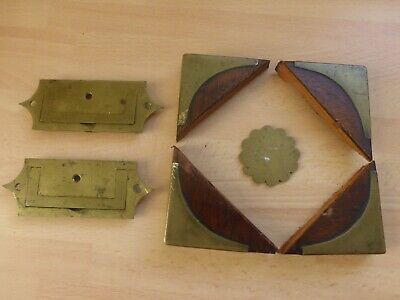Antique Slopes/ Boxes Restoration Brass Corners, Escutcheon & Handles