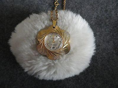Vintage 17 Jewels Parker Shock Proof Necklace Pendant Wind Up Watch