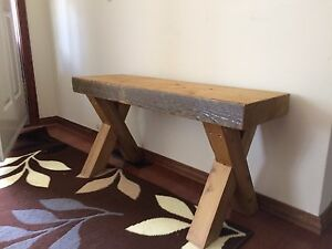 Custom build rustic wooden bench